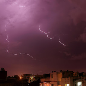 Bolt out of the blue. by Sridhar Balasubramanian - Landscapes Weather