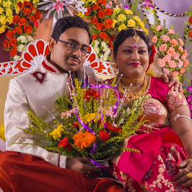 by Sambit Bandyopadhyay - Wedding Bride & Groom