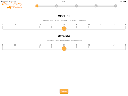 Avis et Notes - Restaurants - screenshot