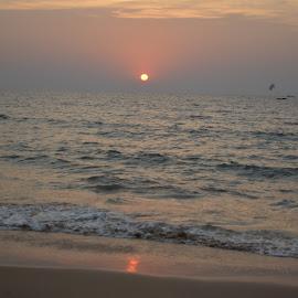 Anjuna Beach in Goa by Jay W - Landscapes Beaches ( beach, sunset )