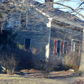 Old House by Sarah Burroughs-McGehee - Buildings & Architecture Homes ( home, shadow, town, architecture, house,  )