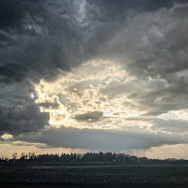 Looming Storm III by Garnie Ross - Landscapes Weather