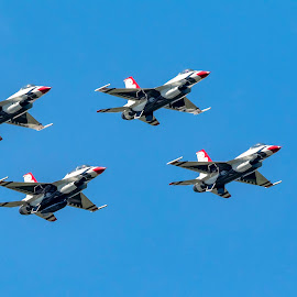 US Air Force Thunderbirds by Debbie Quick - Transportation Airplanes ( sky, flight, debbie quick, newburgh, entertainment, outdoor photography, air force, planes, jets, debs creative images, new york, outdoor magazine, transportation, air show, outdoors, daylight, flying, airplane, hudson valley, thunderbirds )