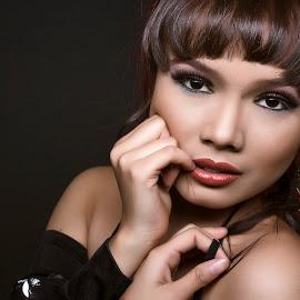 little red by Poko Poko - People Portraits of Women ( model, indonesia, women, portrait )