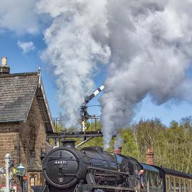 Setting Off by Dez Green - Transportation Trains ( railroads, railways, steam trains, relic, historic, steam,  )