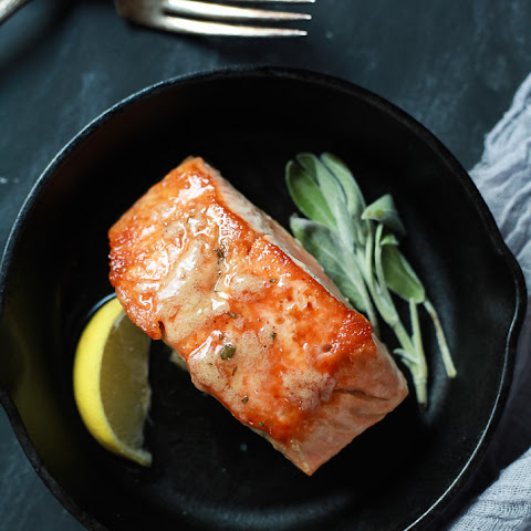 Pan Seared Salmon with Sage Brown Butter Sauce