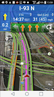 Screenshot of Truck GPS Route Navigation