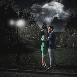 digital art by Simion Tiberiu Stefan - People Couples ( love, girl, night\, night, couple, boy )