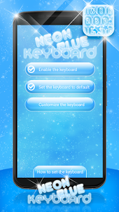 Neon Blue Keyboard - screenshot