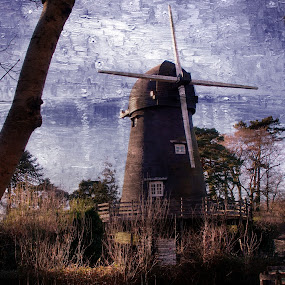Burseldon Mill by JCstudios by John Cuthbert - Painting All Painting ( waqll art, art, jcstudios, canvas, hampshire, historic, corn, olde, mill, flour, ancient, listed building, bursledon, painting )