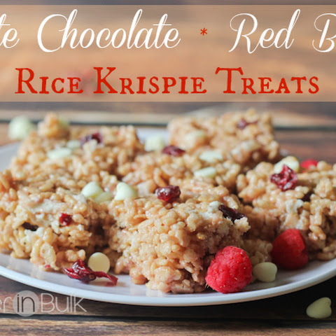White Chocolate Red Berry Rice Krispie Treats