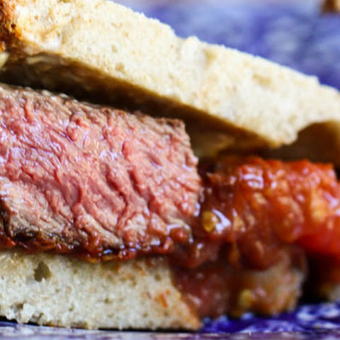 Steak Sandwich with Roasted Tomatoes