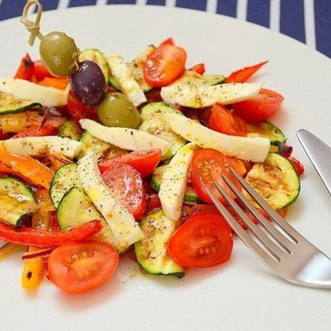 Salad Of Grilled Vegetables With Mozzarella