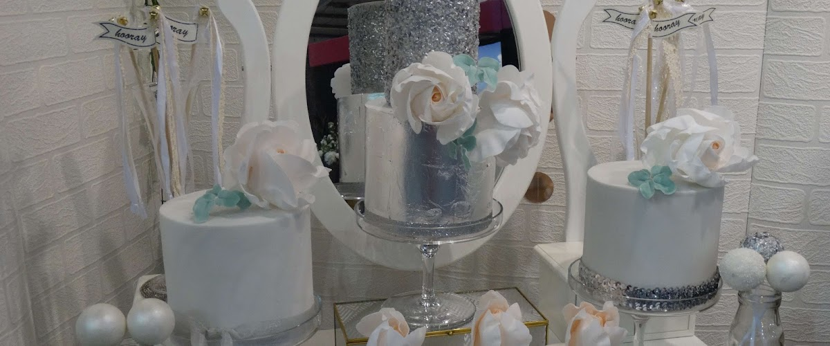 Silver and Blush Dessert Table