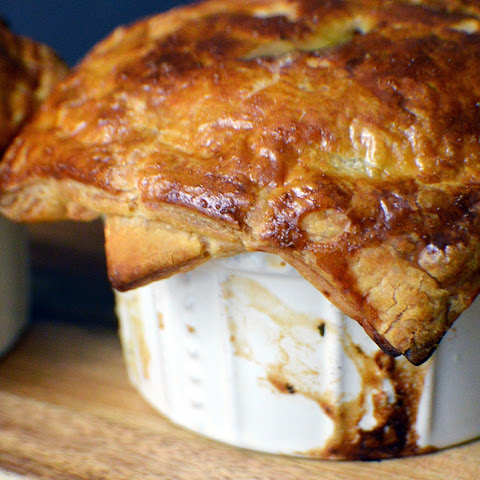Single Serving Chicken Pot Pies with Puff Pastry