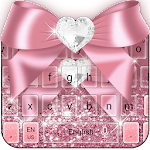 Rose Gold Diamond Bow Pink Glitter Keyboard Icon