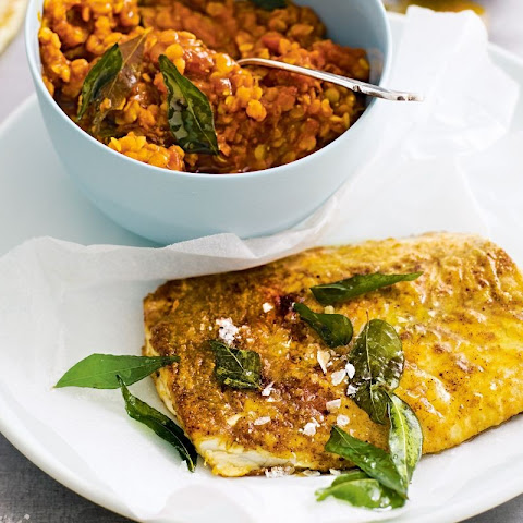 Spiced Fish With Easy Dhal