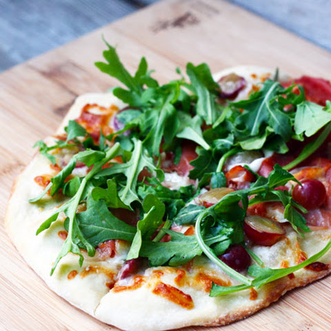 Grape, Proscuitto, and Arugula Flatbread