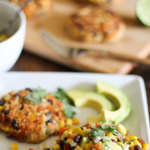 Southwest Veggie Burgers with Black Bean and Corn Salsa