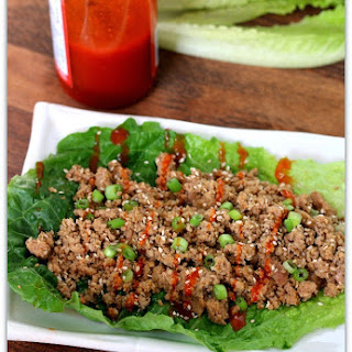 Slow Cooker Sesame Sriracha Turkey Lettuce Wraps