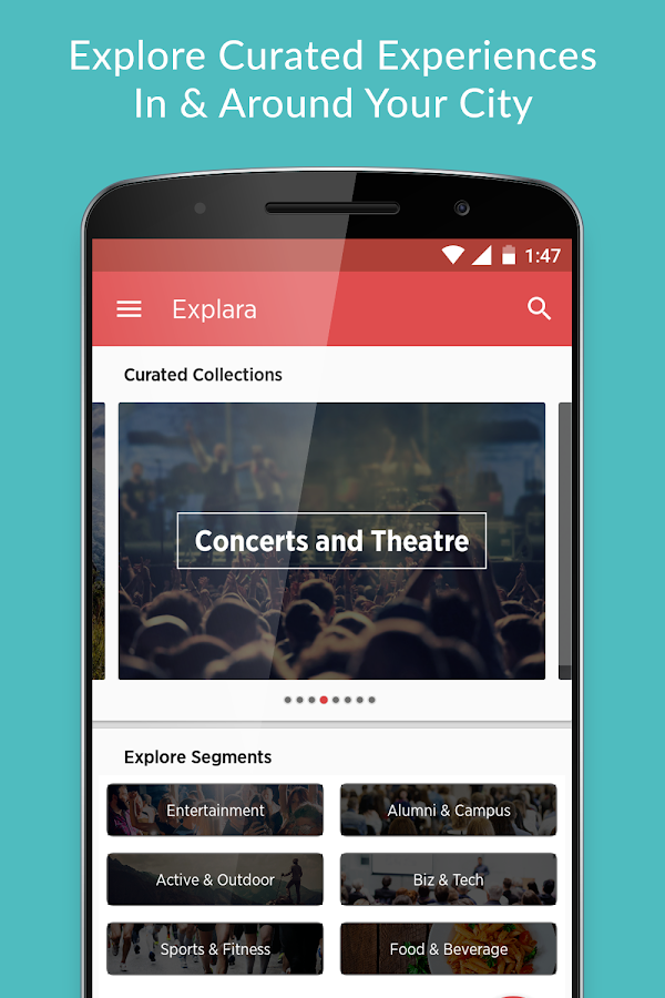EXPLARA - Events & Experiences Screenshot 1