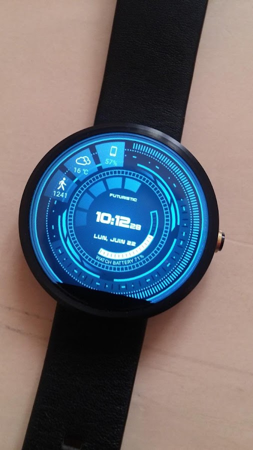 Futuristic GUI Watch Face Screenshot 5