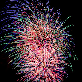 by Debbie Quick - Public Holidays July 4th ( sky, best 4th in the north, color, adirondacks, celebrate, festival, night, festive, 4th of july, fireworks, best fourth in the north, holiday, new york, explosion, celebration, july 4th, event, colorful, lake george )