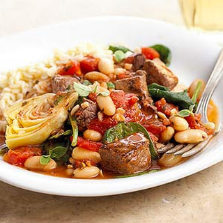 Greek Lamb with Spinach and Artichokes