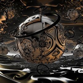 The Final Dimension by Rick Eskridge - Illustration Sci Fi & Fantasy ( dimension, sci-fi, mb3d, fractal, twisted brush )