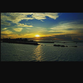 tidung sunset by Yudha Adillasaputra  - Instagram & Mobile Instagram ( landscape, scenery, tidungisland, sunset, sony )