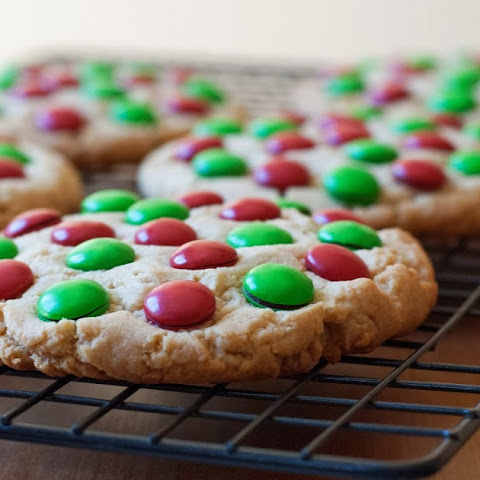 Giant Peanut Butter M&M Cookies