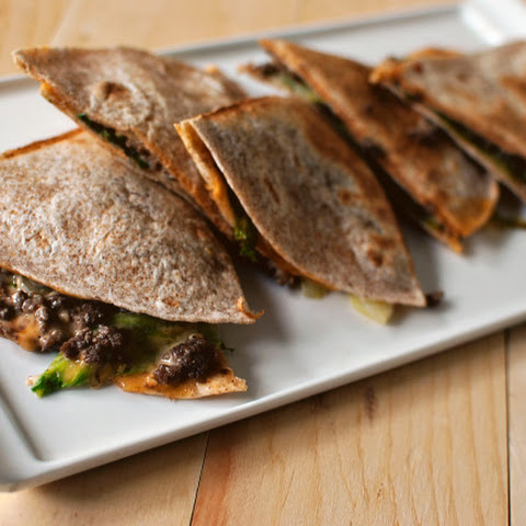 Quick Dinner Fixins' Cheeseburger Quesadillas