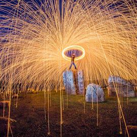 Raining light by Michael Payne - Abstract Fire & Fireworks ( street art, fire, streetart,  )