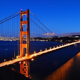 Golden Gate Bridge  by Ercan Genis - Buildings & Architecture Bridges & Suspended Structures ( goldengate, bridge, longexposure )