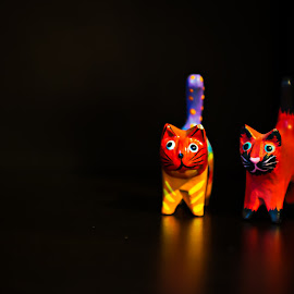 Beware, cats are coming by Maria Yudin - Artistic Objects Toys ( cat, still life, colors, toys, object )