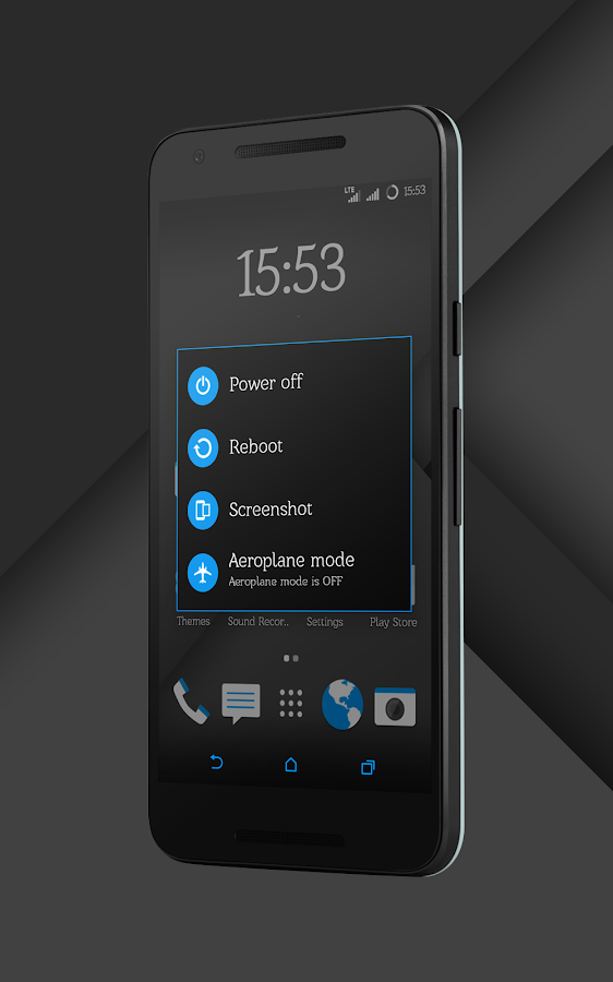 Sense Black/Blue cm13 theme Screenshot 11