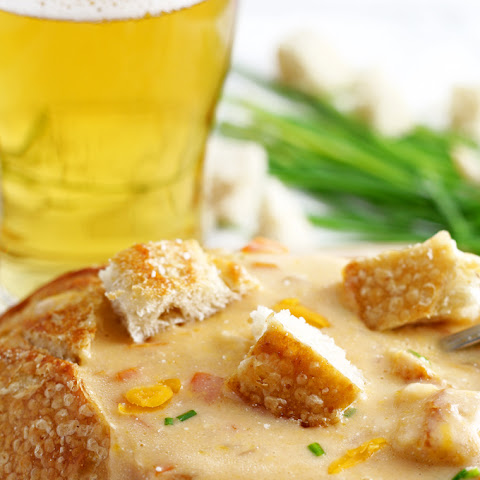 Slow Cooker Beer Cheese Soup #FreakyFriday