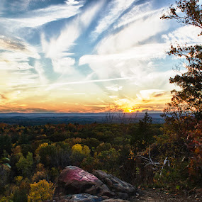 Painted Sky by Jason Weagle - Landscapes Cloud Formations ( clouds, mountain, quarry, sky, hdr, color, sunset, paint )