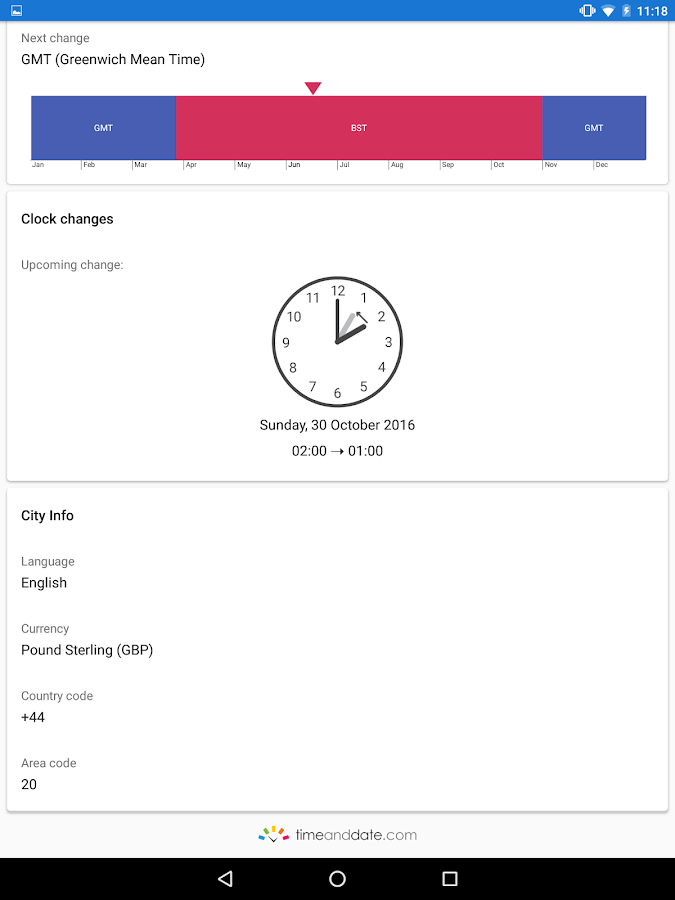 World Clock by timeanddate.com Screenshot 13