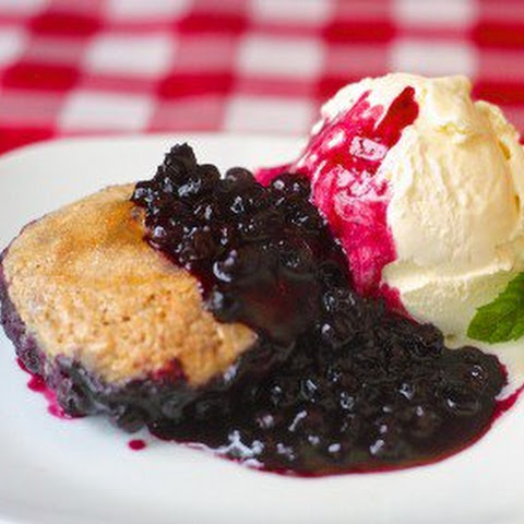 Cinnamon Biscuit Blueberry Cobbler