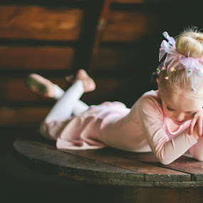 Ballet School Dropout by Kristen VanDeventer Rice - Babies & Children Toddlers ( wood, pink, ballerina, toddler, attic )