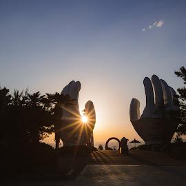 Sunrise Hands by Brent Hendricks - Buildings & Architecture Statues & Monuments ( sunrise resort, sunrise, south korea )