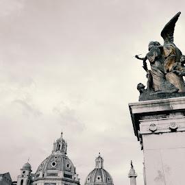 Il Pensiero statue  by Theodoros Theodorou - Buildings & Architecture Statues & Monuments ( statue, 16mm f1.4 r wr, thought statue, rome, fujifilm, x-t1, il pensiero statue, altare della patria, italy )