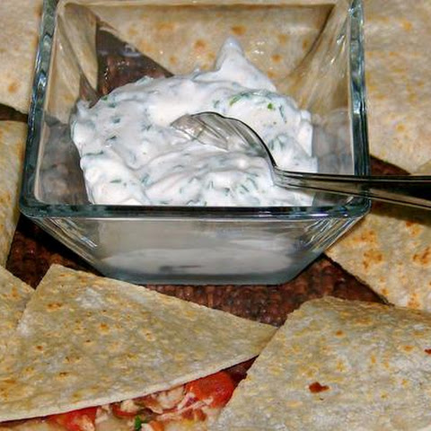 Chicken Quesadilla With Chipotle and Lime Sour Cream
