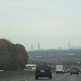 Atlanta Georgia Partial Skyline by David Jarrard - City,  Street & Park  Skylines ( buildings, georgia, skylines, atlanta )