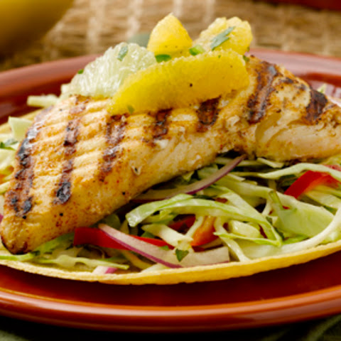 Alaska Fish Tacos with Citrus Salsa and Cabbage Slaw by Chef John Ash