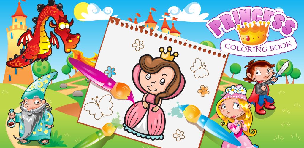 Coloring Book Princess Girls 140G Apk Download