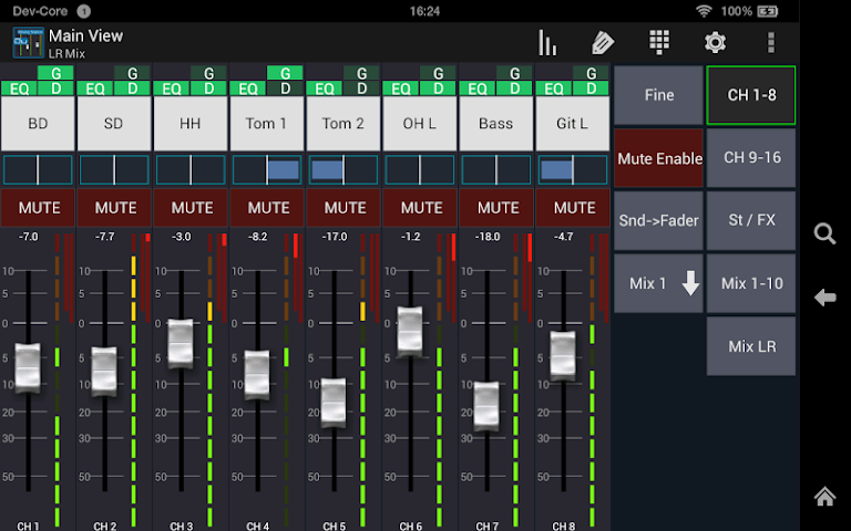 android Mixing Station Qu Pro Screenshot 5