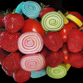 fruits,candys with tomatoes by LADOCKi Elvira - Food & Drink Fruits & Vegetables ( candys, fruits )