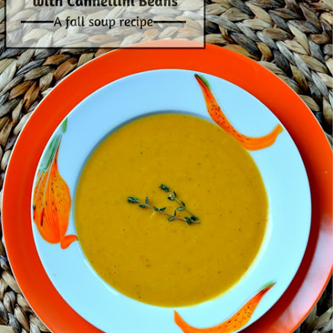 Carrot Sweet Potato Soup with Cannellini Beans | A Fall
